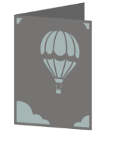 Hot Air Balloon Cricut insert card image