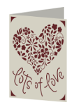 Lots of Love Cricut insert card image