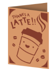 Thanks a Latte Cricut insert card image