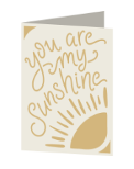 You are my Sunshine Cricut insert card image