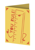 You Rule Cricut insert card image