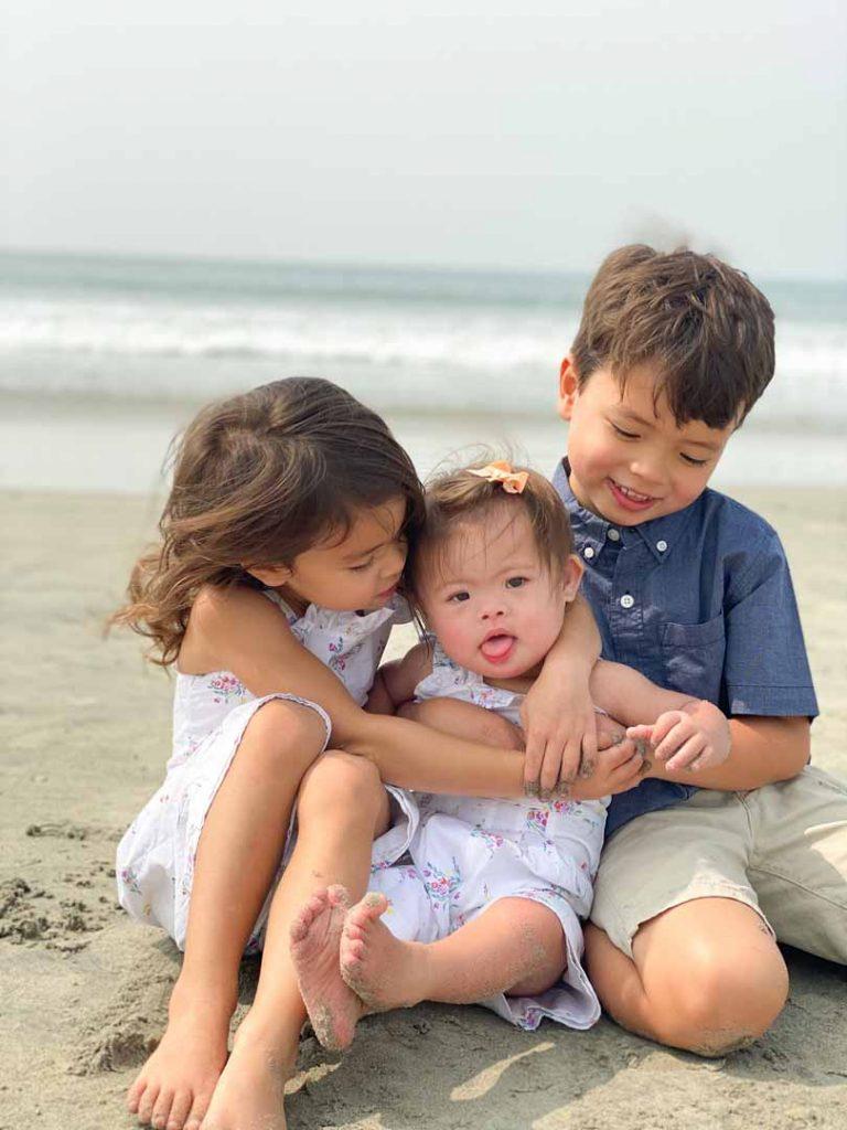 Baby Arabella and her siblings