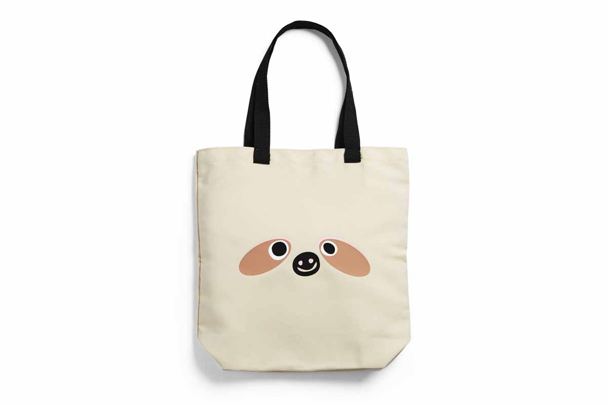 Tote with sloth face.
