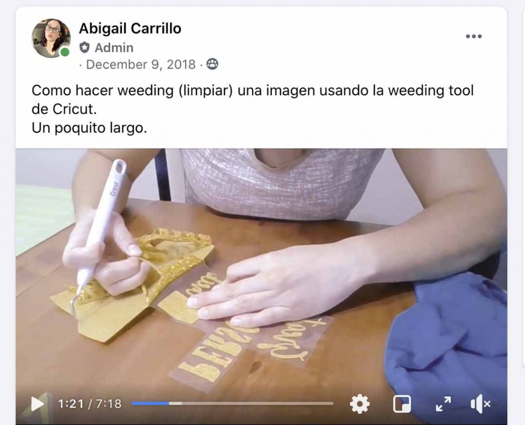 Abigail Carrillo live tutorials on Facebook for Cricut machines