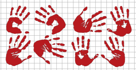 bloody handprints in Cricut Design Space
