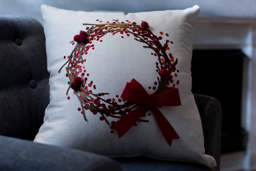 Holiday Wreath Pillow