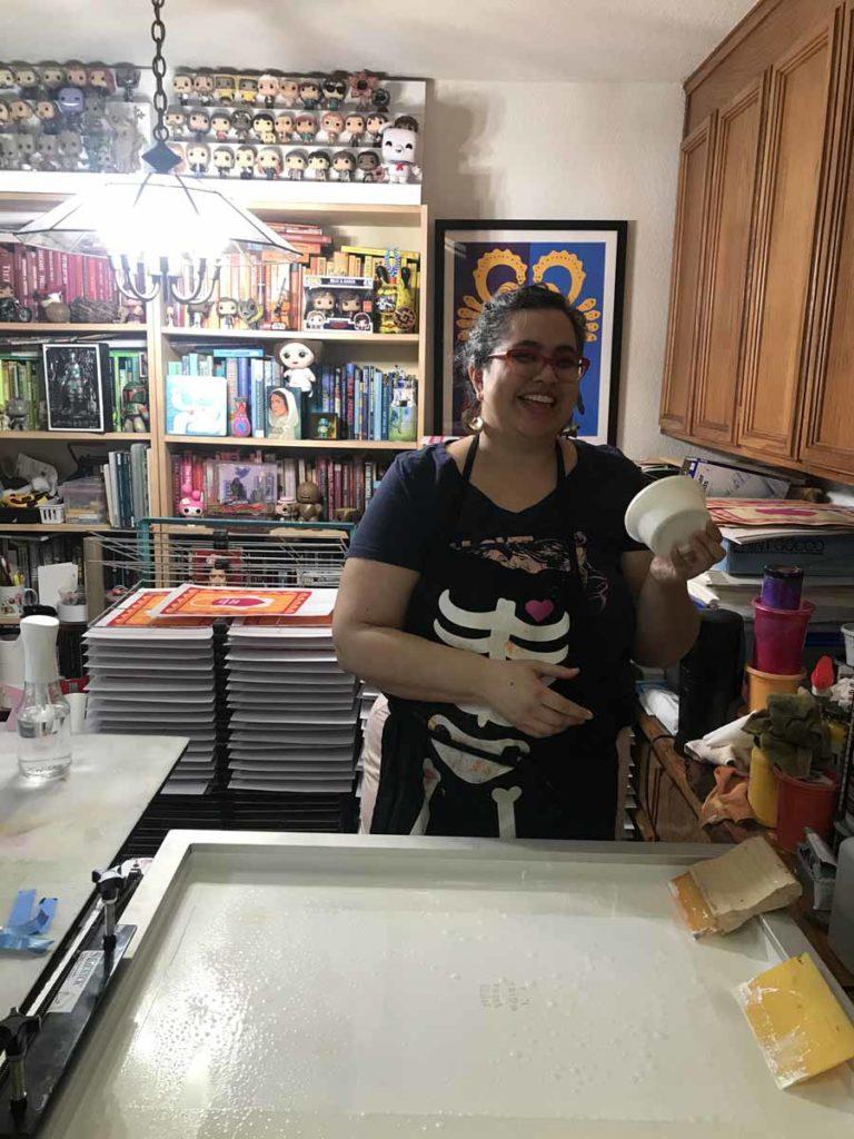 Melanie Cervantes, artist and printmaker