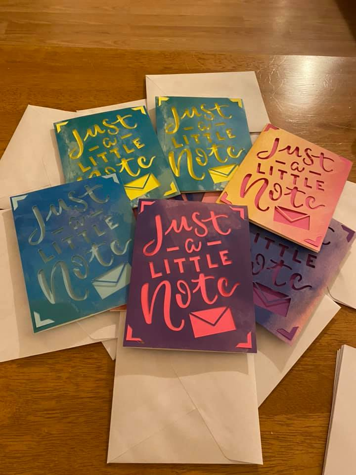 Alicia Jane sent 21 notes to a student with her Cricut Joy