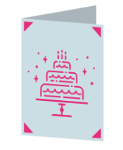 Birthday Cake Cricut insert card image