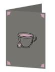 Coffee cup love Cricut insert card image