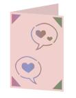 Conversation hearts Cricut insert card image