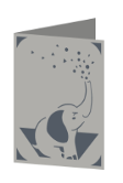 Elephant Cricut insert card image