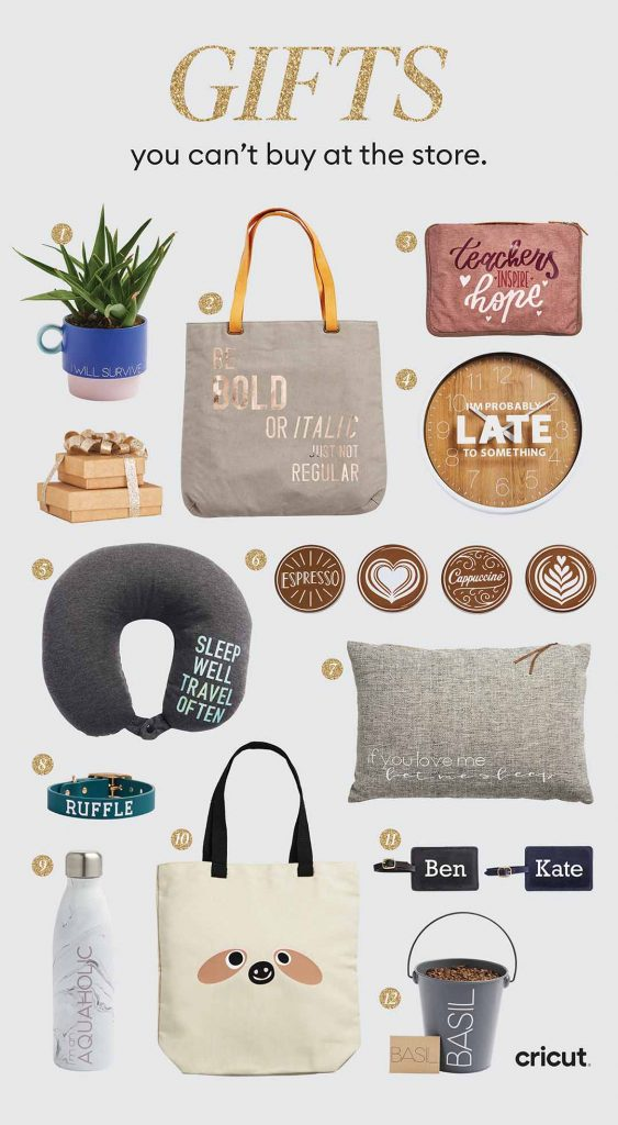Twelve DIY holiday gift ideas you can make this year with your Cricut.