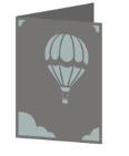 Hot Air Balloon Cricut insert card image