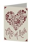 Lots of Love Cricut insert card image