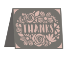 Thanks Cricut insert card image