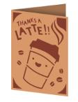 Thanks a Latte Cricut insert card image