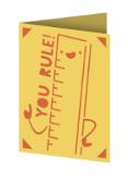 You Rule Cricut insert card image