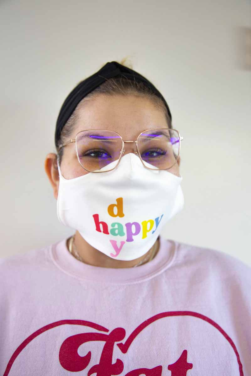 Ashley Nell Tipton - Happy Day face mask