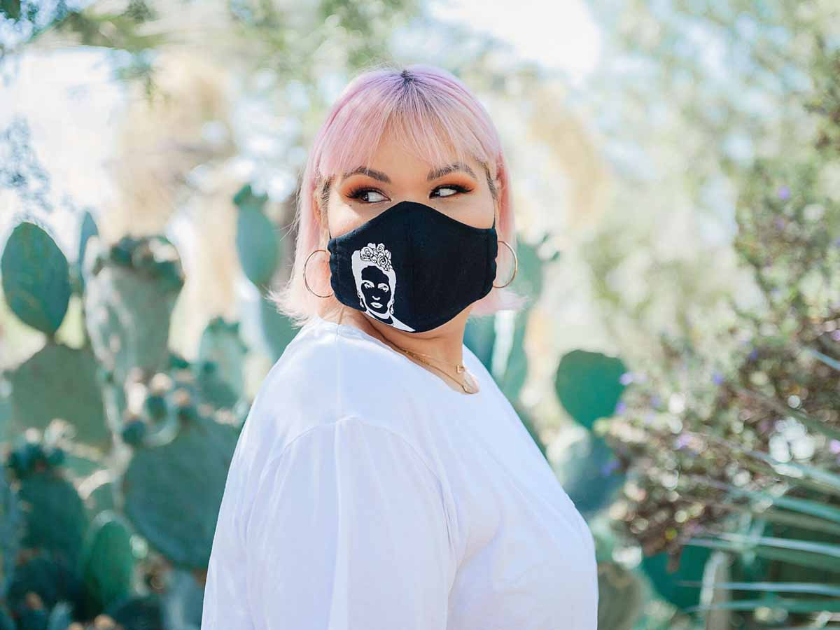 Ashley Nell Tipton - Frida Kahlo Silhouette face mask
