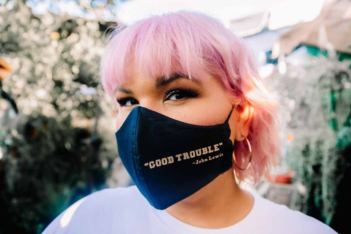Ashley Nell Tipton - John Lewis 'Good Trouble' face mask