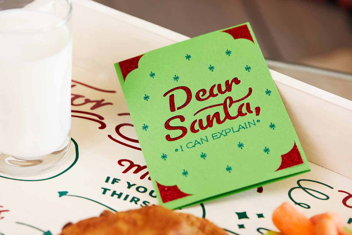 Dear Santa greeting card from Zooey Deschanel and Cricut