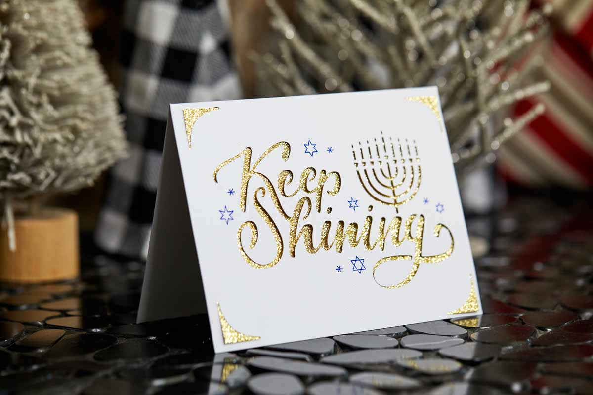 Keep Shining greeting card from Zooey Deschanel and Cricut