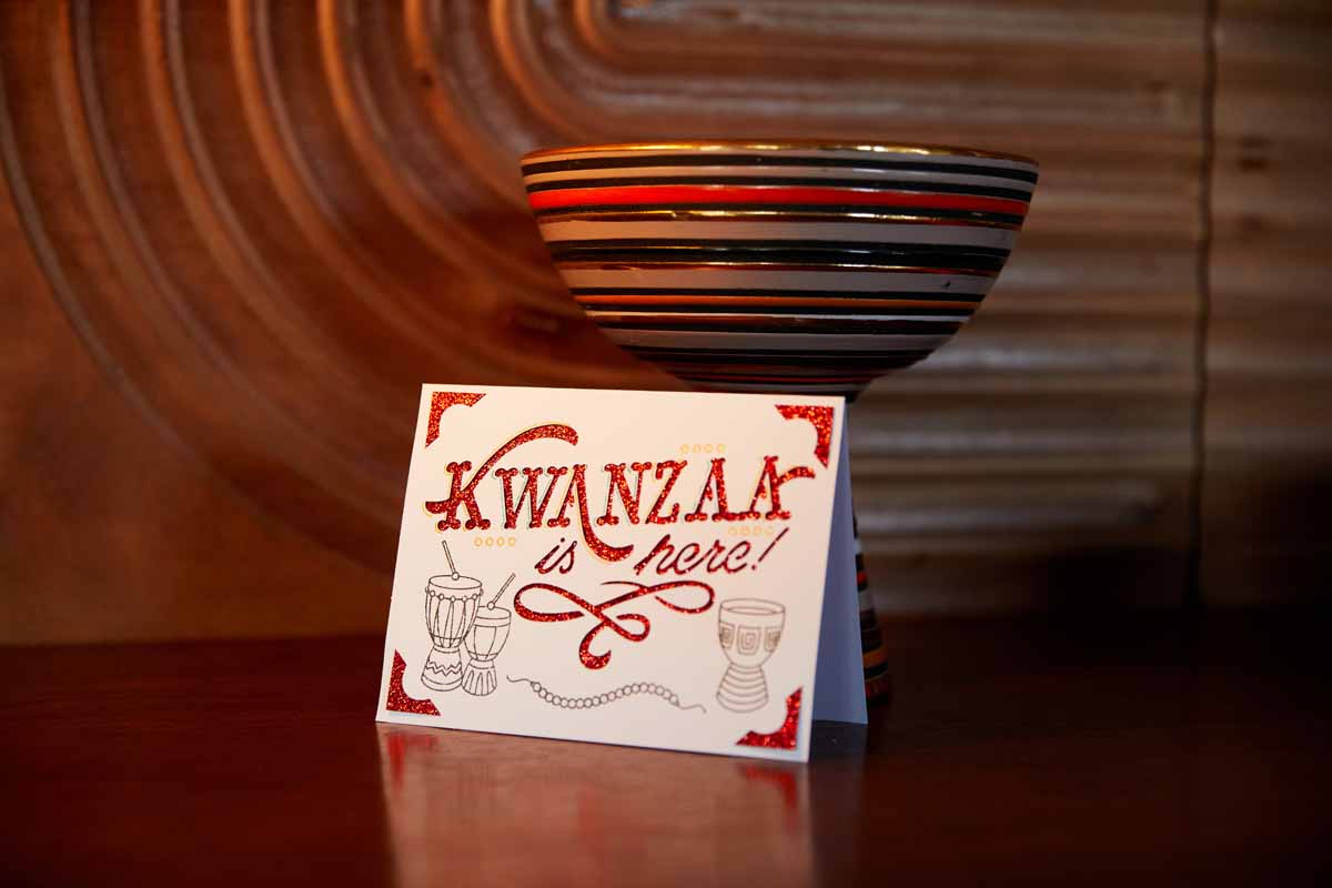 Kwanzaa greeting card from Zooey Deschanel and Cricut