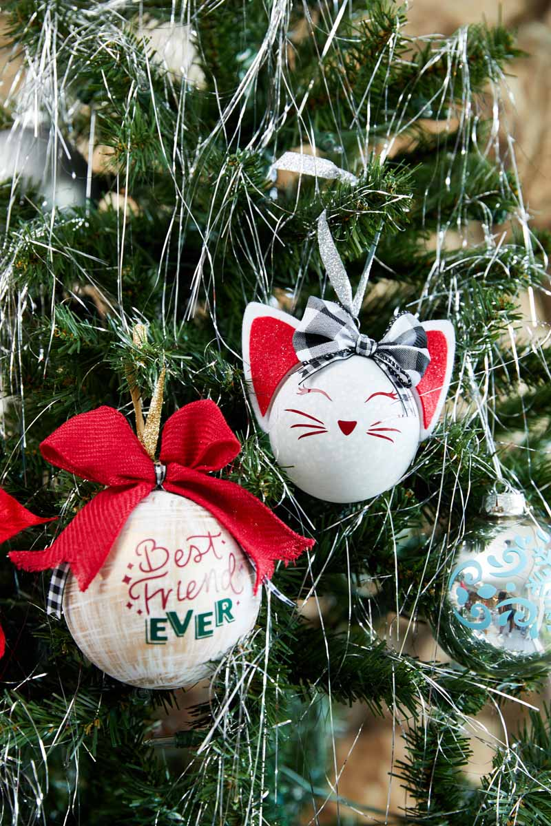 DIY Christmas tree ornaments  from Zooey Deschanel and Cricut