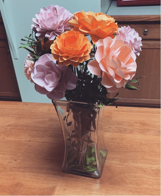 Paper flower bouquet from Anastasia Jackson