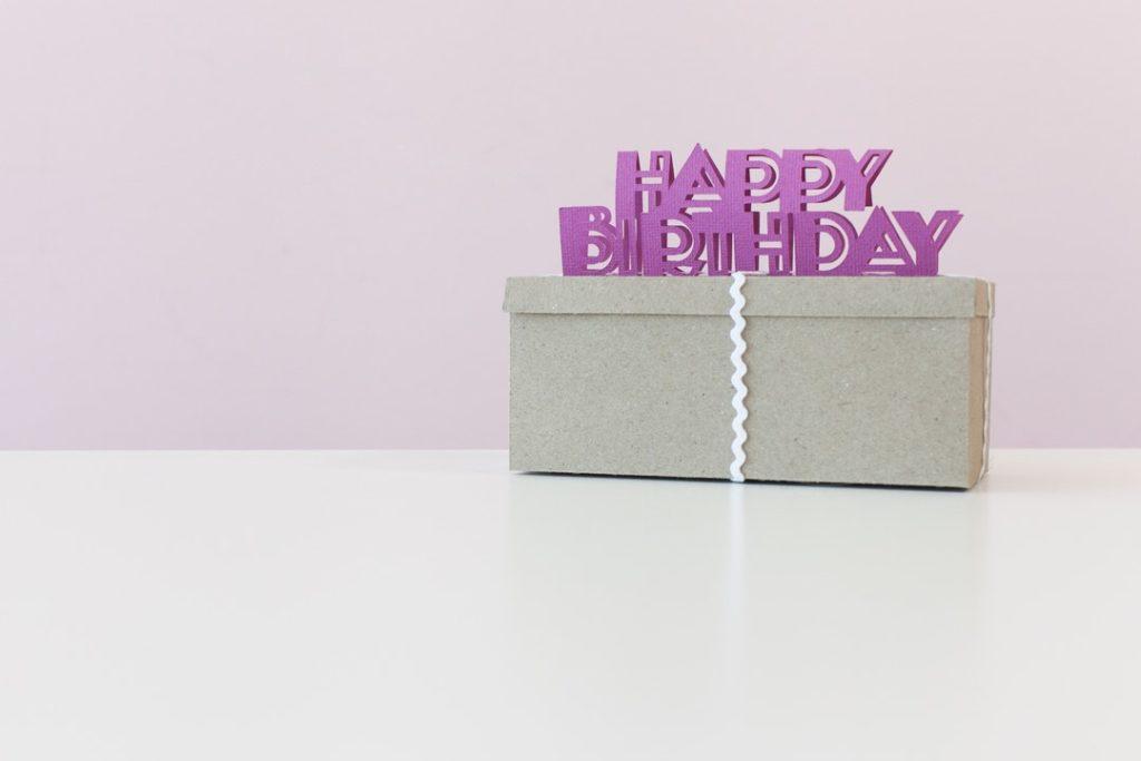 Cricut projects, happy birthday gift box