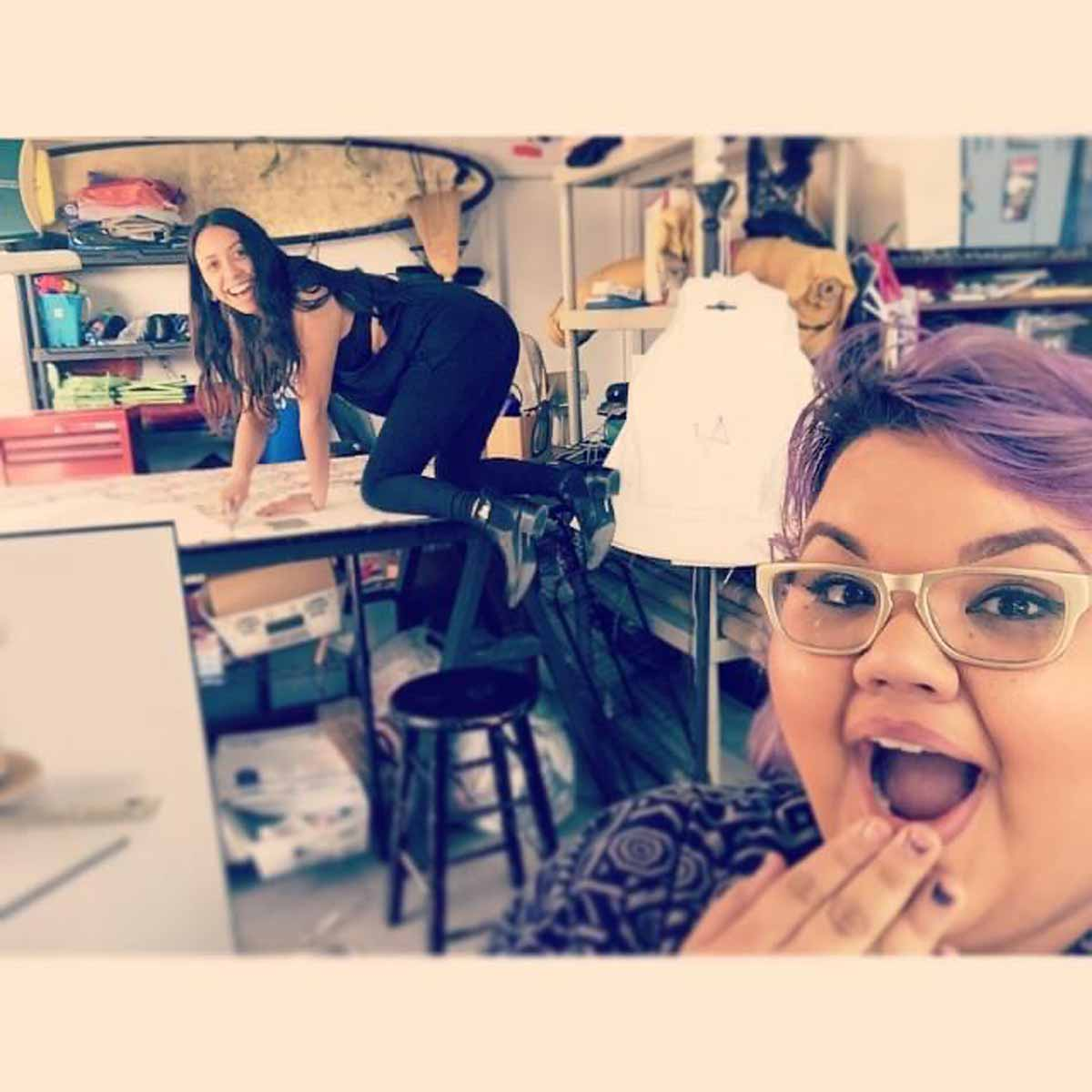 Ashley Nell Tipton and a colleague