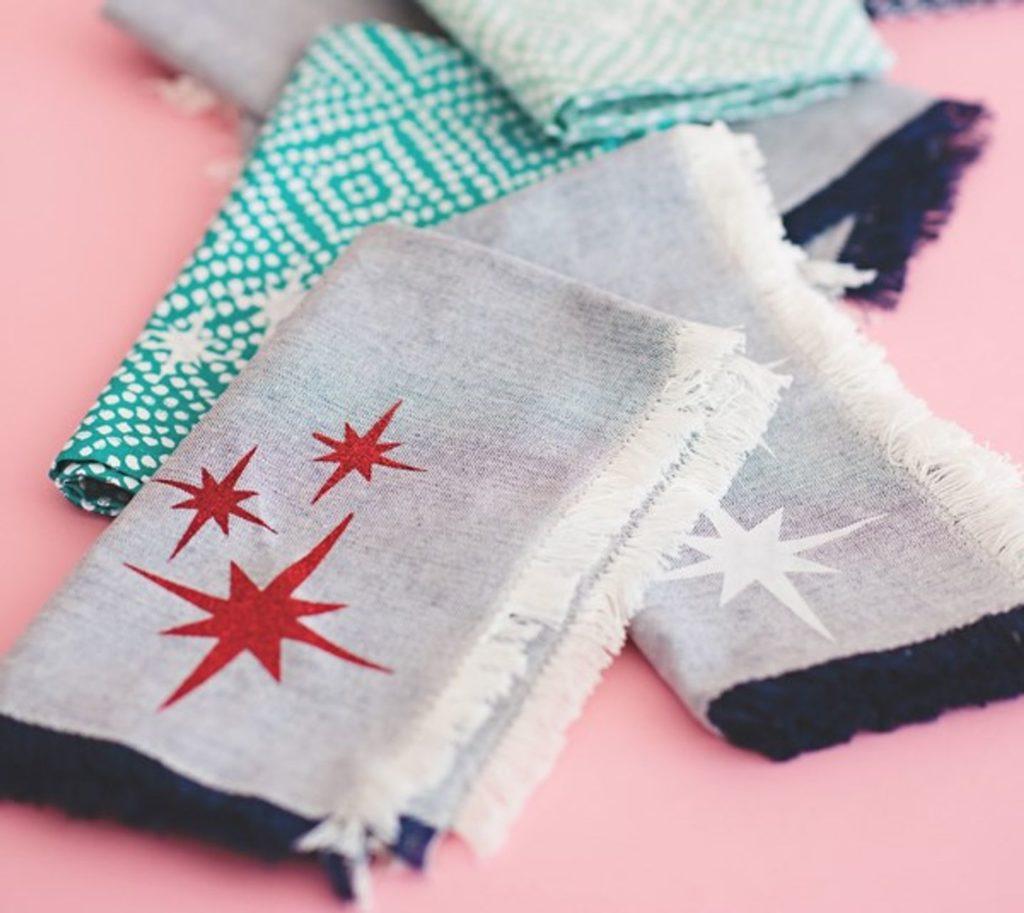 Cricut projects, mod napkins