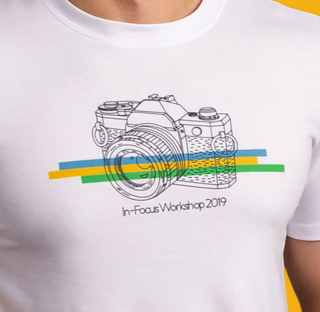 Cricut projects, in-focus workshop camera T-shirt