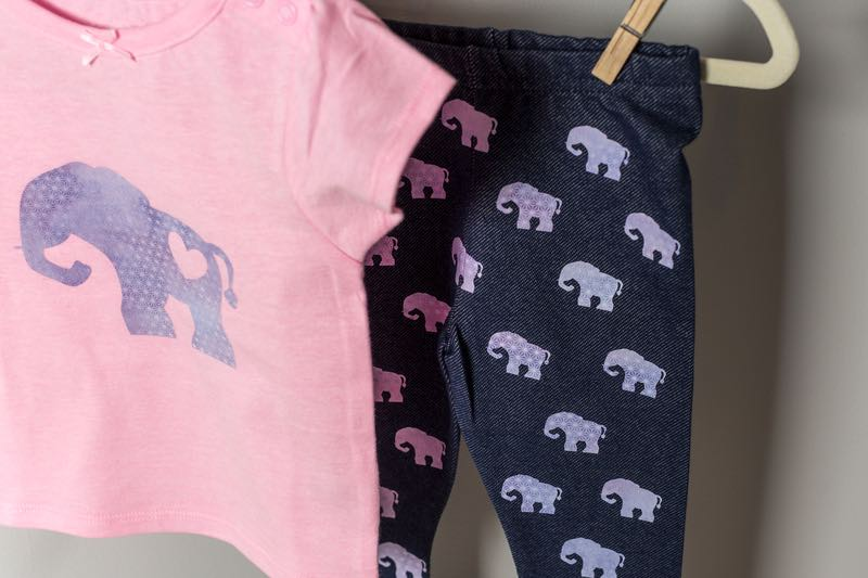 Cricut projects, children's baby elephant outfit