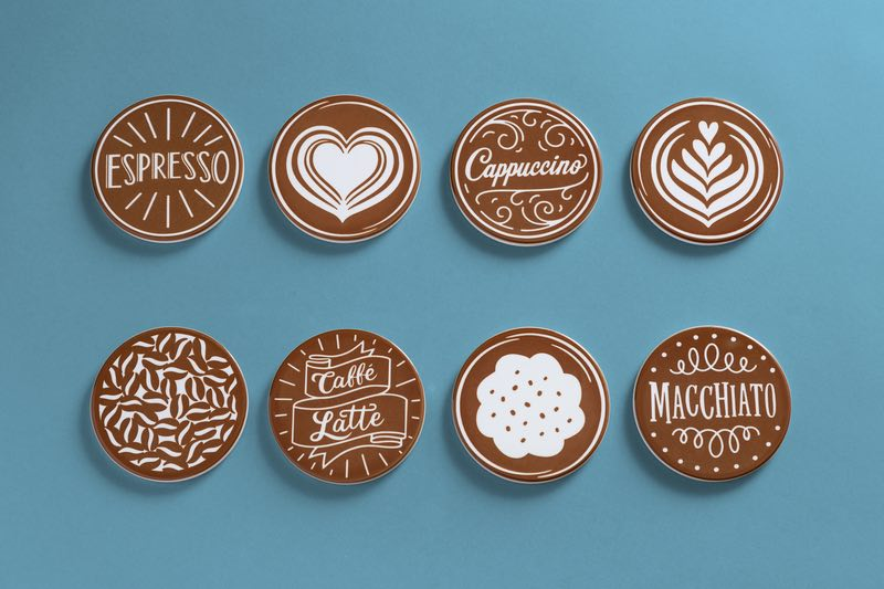 Cricut projects, coffee themed coasters