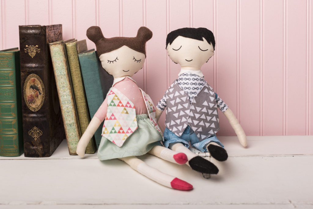 Cricut projects, girl and boy dolls