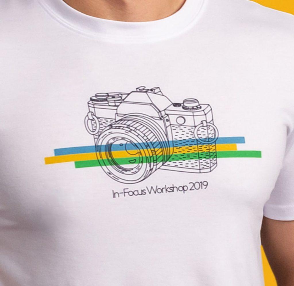 Cricut projects, in-focus workshop camera T-shirt