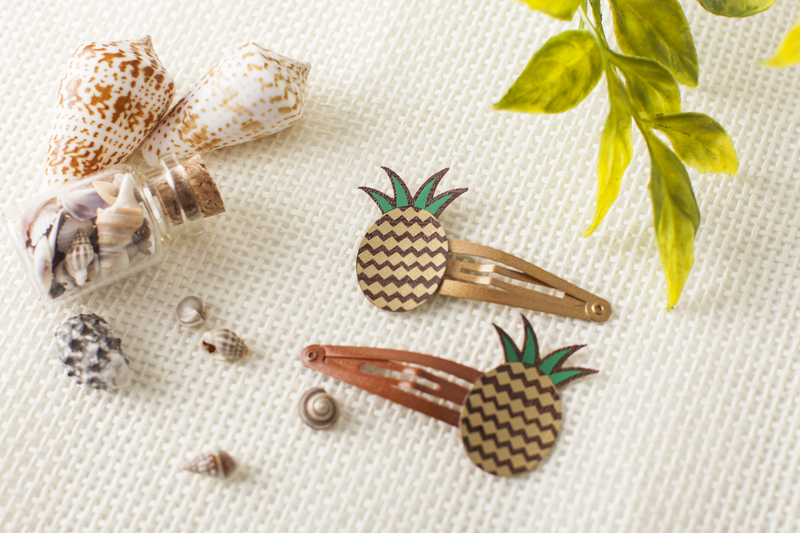 Cricut projects, pineapple hair clips