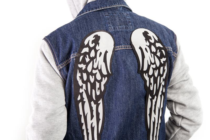 Cricut projects, wings jacket with iron-on