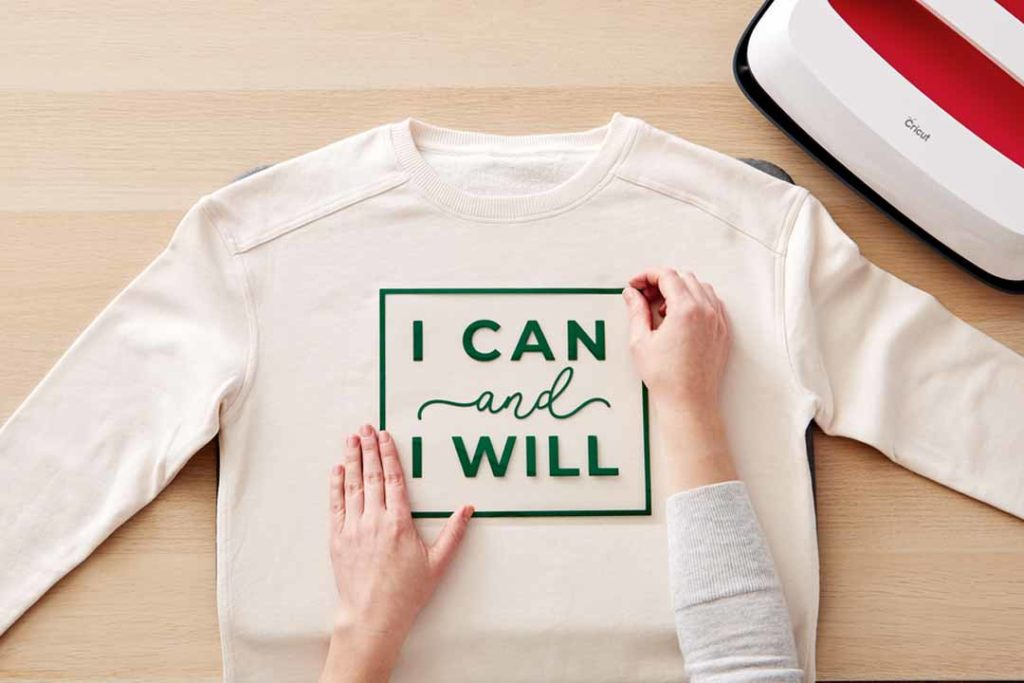 """I Can I Will"" iron-on shirt"