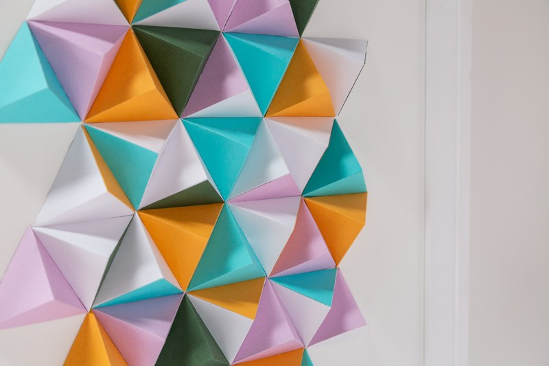 Cricut projects: 3d Pyramidal Wall Art