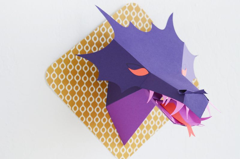 Cricut projects: 3d Dragon Wall Mount