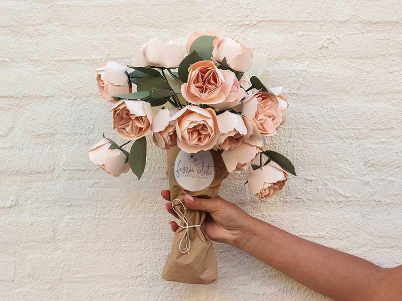 Farren Celeste - Juliet Rose paper flowers