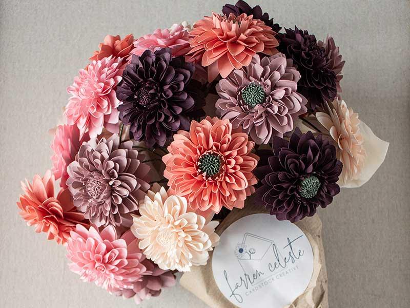 Farren Celeste - Dahlia paper flowers