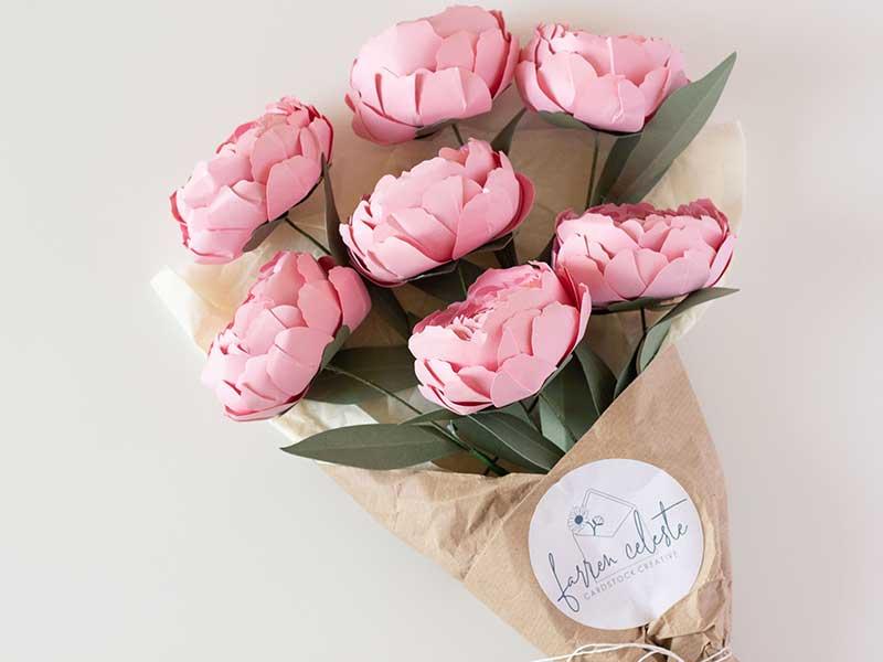 Farren Celeste - Peony paper flowers