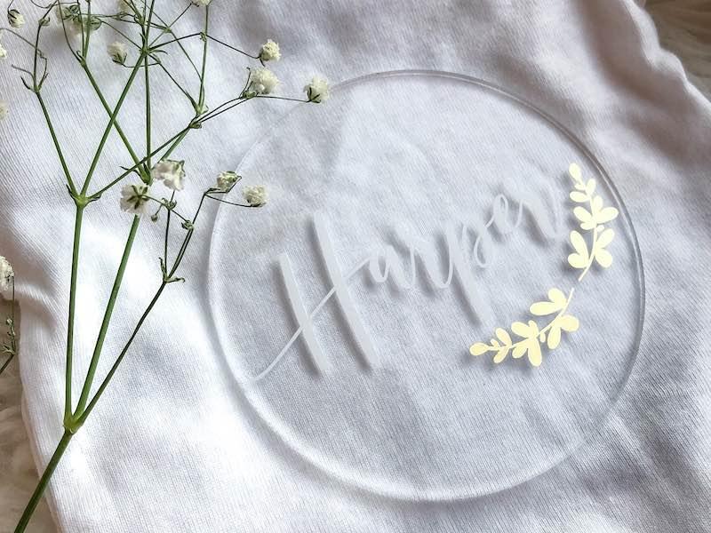 the Crafty Brunette Birth Plaque