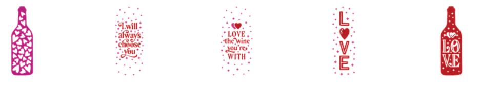 Valentine Cricut Access Images - Wine Totes Love