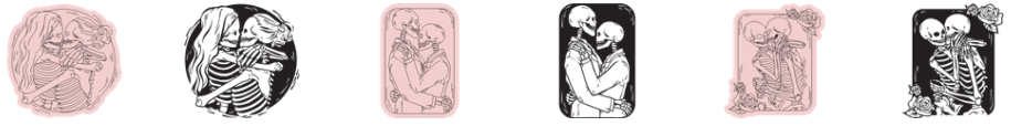 Valentine Cricut Access Images - Skeleton Love