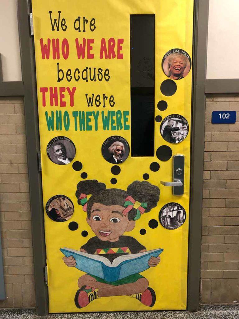 Jennifer Phillips - classroom door for Black History Month